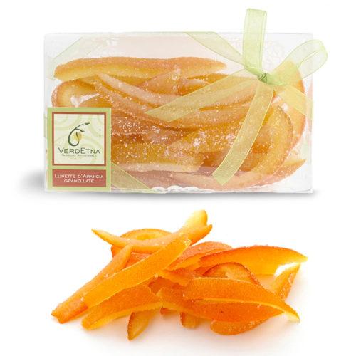 Lunette di arancia ricoperte di zucchero